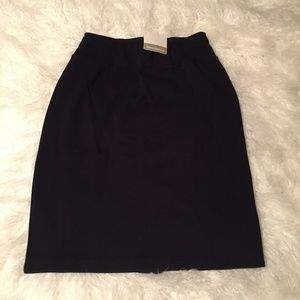 NWT Hanna Andersson Black Knit Pencil Skirt XS